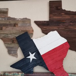 TEXAS STATE WOODEN CUT OUTS