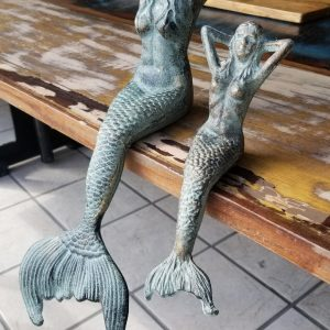 CAST IRON MERMAIDS LARGE AND SMALL