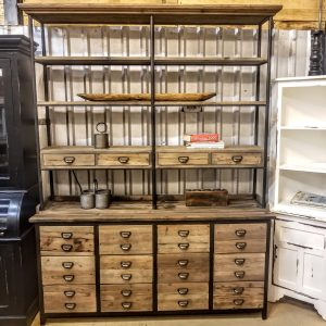 INDUSTRIAL RECLAIMED PINE HUTCH