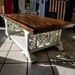 ORNATE X COFFEE TABLE