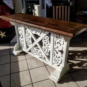 ORNATE X SOFA TABLE