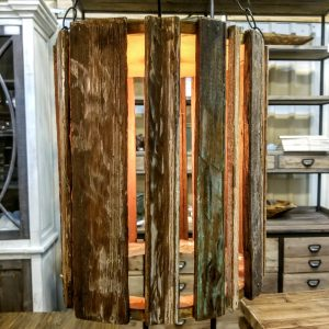 RECLAIMED HARD WOOD LAMP