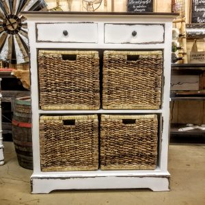 BASKET CABINET- WHITE