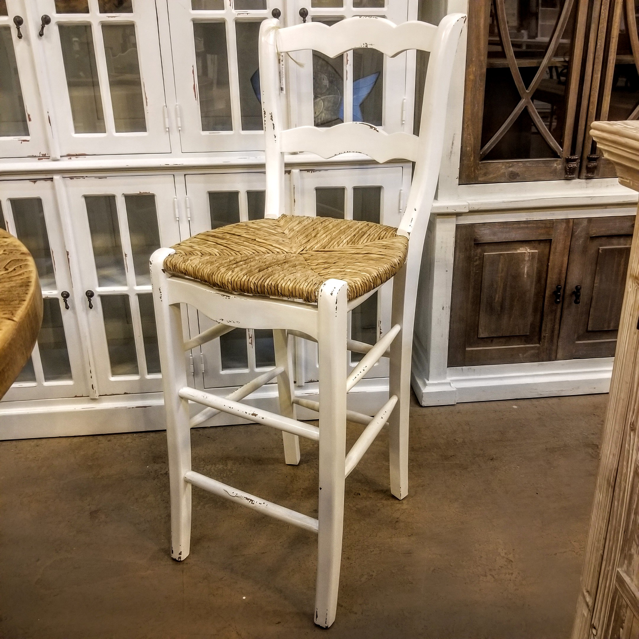 French Country Bar Chair Rustic Rarehouse