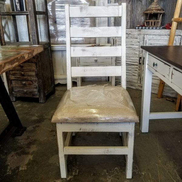 DINING LADDER BACK CHAIRS - WHITE