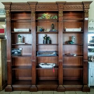 WALL UNIT BOOKCASE - BROWN