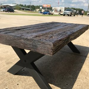 RAILROAD TIES COFFEE TABLE