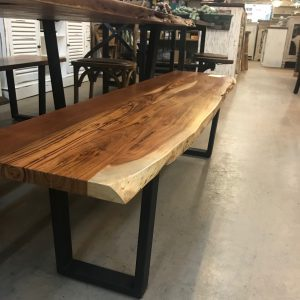 LIVE EDGE DINING BENCH