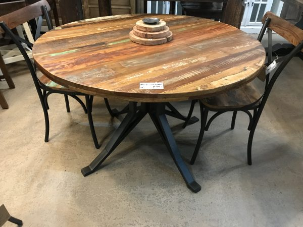 48'' RECLAIMED WOOD DINING TABLE