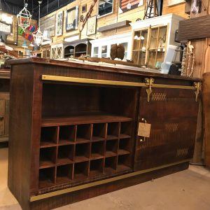 LIVE EDGE SLIDING DOOR WINE CABINET