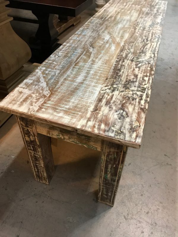 """58"""" RECLAIMED WOOD BENCH"""