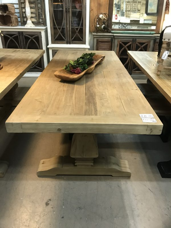 8' AND 10' RECLAIMED ELM TABLES, 3'' THICK