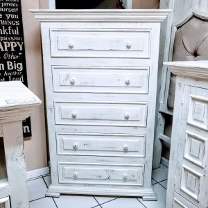 CHEST OF DRAWERS-WHITE CHALET