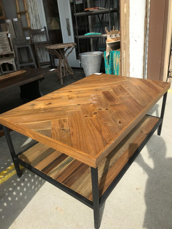 CUSTOM CHEVRON COFFEE TABLE
