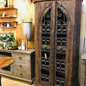 Reclaimed Wood Bar Cabinet