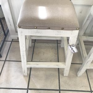 LINEN COUNTER HEIGHT STOOLS
