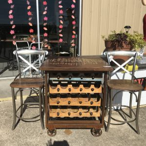 SQUARE WINE RACK ON WHEELS