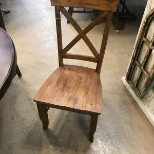 'X' BACK DINING CHAIR